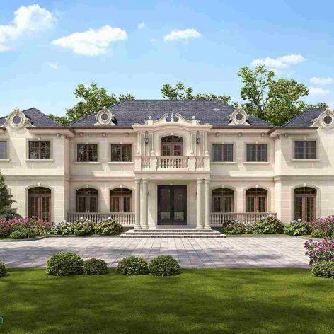 villa exterior model 72-1 (3ddanlod.ir)