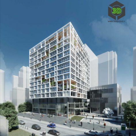 office building 002 left view(3ddanlod.ir) 075