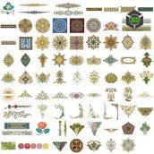 persian pattern ceramic(3ddanlod.ir)