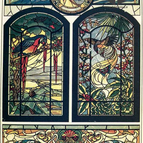 Art Noueau stained-glass0027 (3ddanlod.ir)