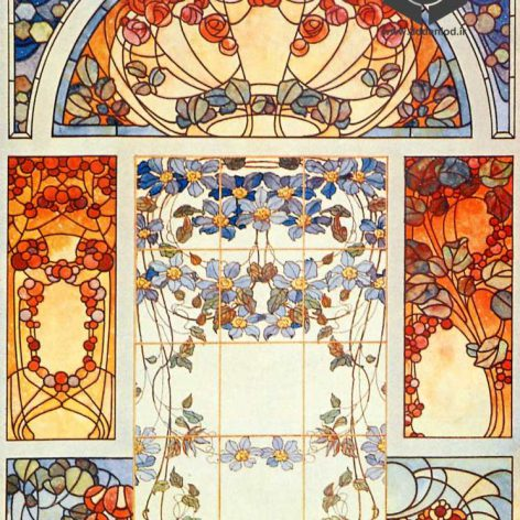 Art Nouveau stained-glass0180 (3ddanlod.ir)