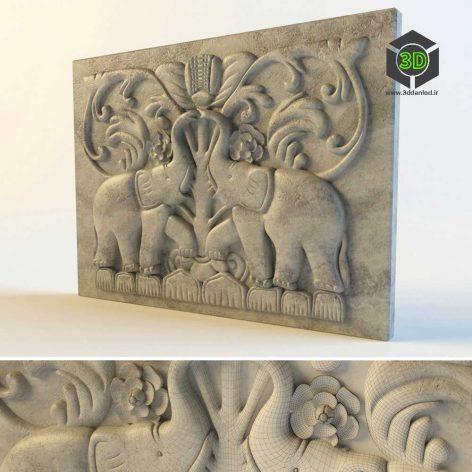 Decor plaser elephant (3ddanlod.ir) 027