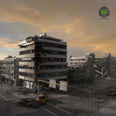 Destroyed City Blocks -DamagedCity 004 (3ddanlod.ir)