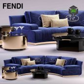Fendi Artu Round Sectional Sofa3ddanlod.ir 035 172x172 - دانلود مدل سه بعدی کاناپه پست مدرن 263