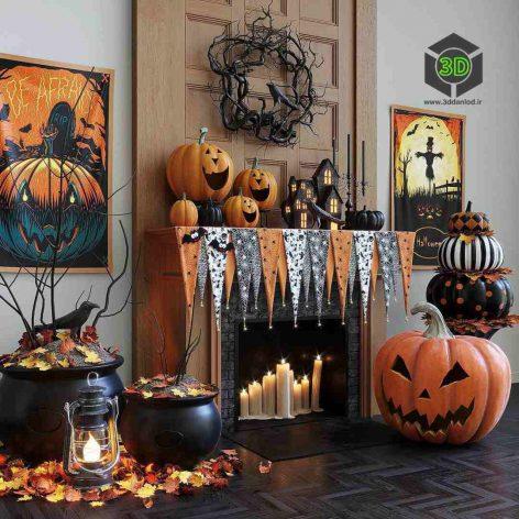 Halloween Decor Set(3ddanlod.ir) 383