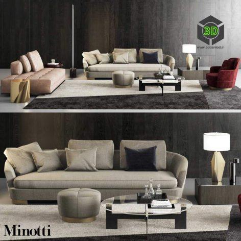 Minotti Grand Jacques Sofa Set(3ddanlod.ir) 754
