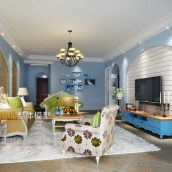 Modern Livingroom Mediterranean Interior 289(3ddanlod.ir)
