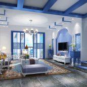 Modern Livingroom Mediterranean Interior 291(3ddanlod.ir)