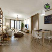Modern Style Livingroom Interior044(3ddanlod.ir)