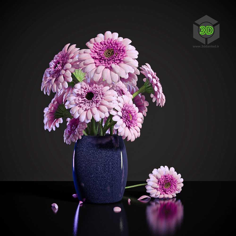 نقاشی گلدان سه بعدی