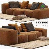 Sofa Extrasoft Living Divani(3ddanlod.ir) 586