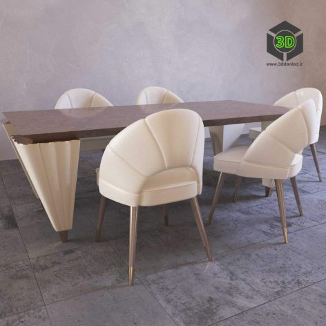 Table and Chairs Turri Orion(3ddanlod.ir) 050