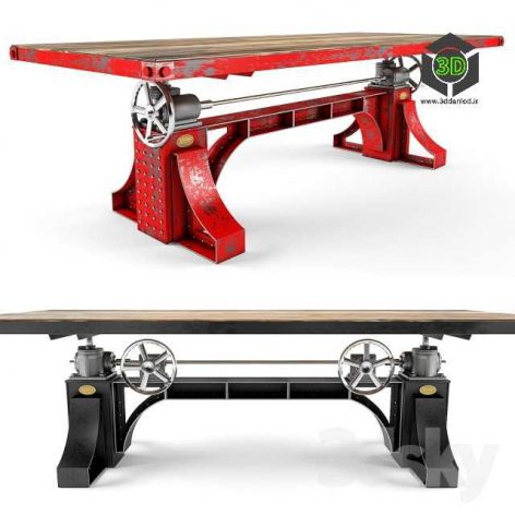 Vintage Industrial Bronx Crank Table(3ddanlod.ir) 056