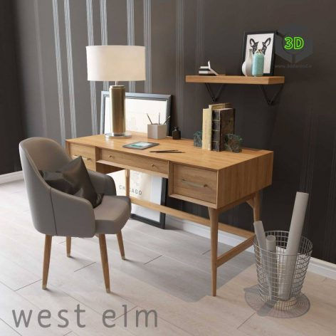 West Elm Mid Century Desk(3ddanlod.ir) 224