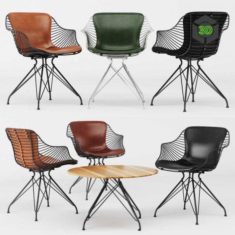 Wire Dinning Chair(3ddanlod.ir) 008