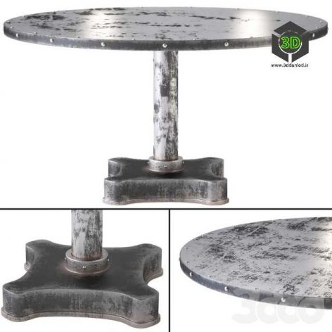 Виктор твердых промышленных металлов и чугуна Обеденный стол(3ddanlod.ir)