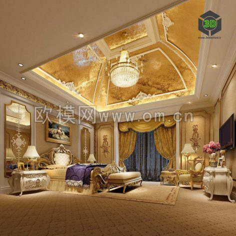 classic bedroom 4 (3ddanlod.ir)
