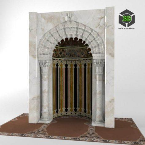دانلود مدل سه بعدی محراب مسجد 481