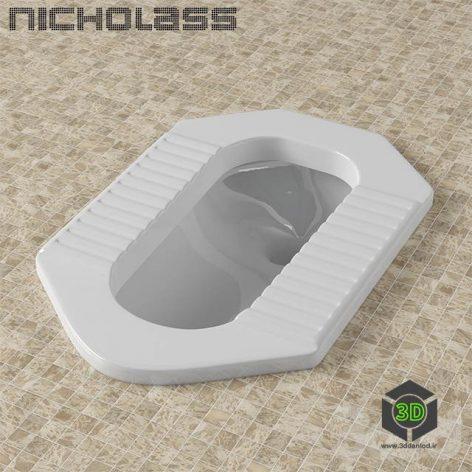 A Squat toilet (3ddanlod.ir)