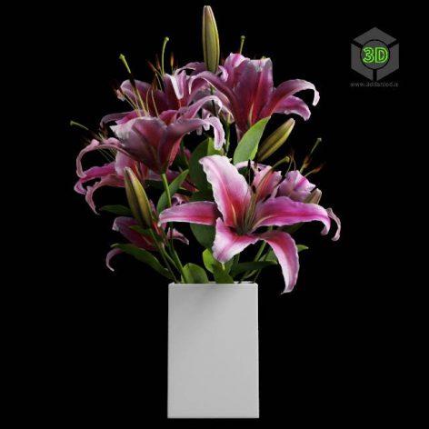 Acc_Lily bouquet (3ddanlod.ir) 049