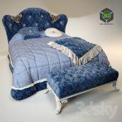 Bed VOLPI Mafalda with Ottoman (3ddanlod.ir) 013