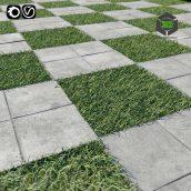 Decorative floor with grass (3ddanlod.ir) 080