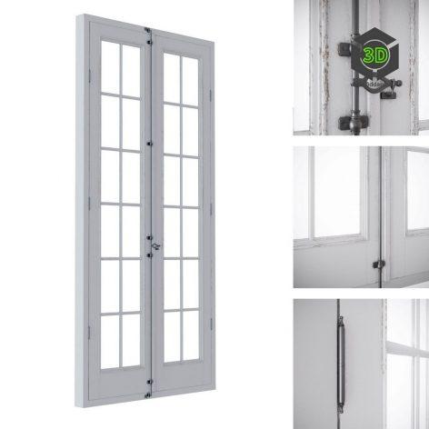 French balcony door (3ddanlod.ir) 150