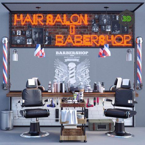 Hair Salon Barber Shop (3ddanlod.ir) 218
