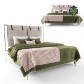 Leigh Upholstered Bed 3D model (3ddanlod.ir) 156