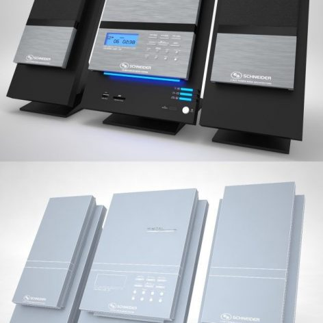 Microsystem Schneider Speacers Player(3ddanlod.ir)