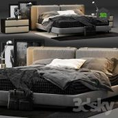Minotti Tatlin Soft Bed (3ddanlod.ir) 112