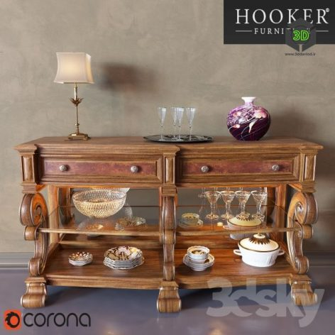 Mirrored Back Console Table(3ddanlod.ir)