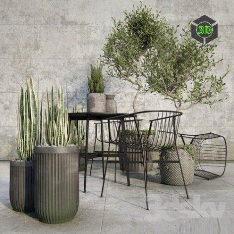 Outdoor plant set (3ddanlod.ir) 198