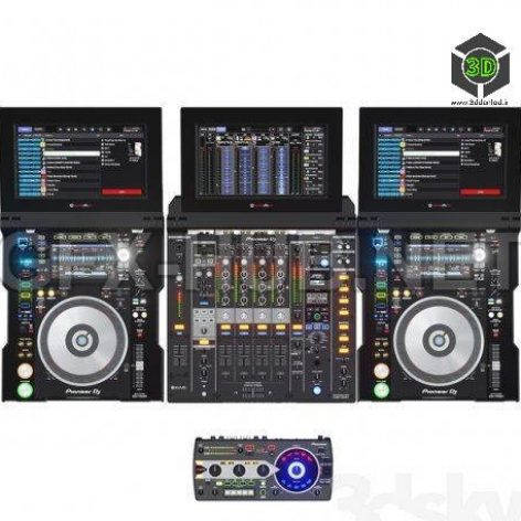 Pioneer DJ Collection 3D model (3ddanlod.ir) 159
