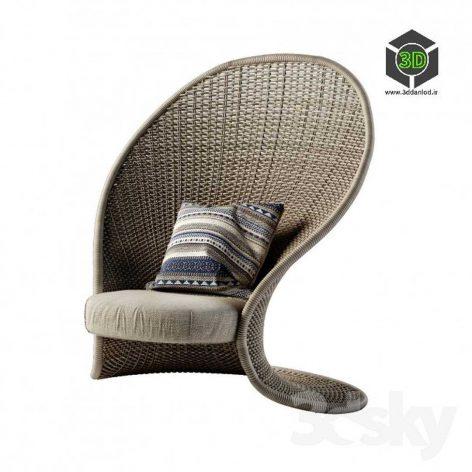 Rattan Chair(3ddanlod.ir) 134