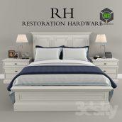Restoration Hardware Panel Montpellier Bed (3ddanlod.ir) 094