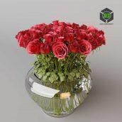 Roses in Vase(3ddanlod.ir) 066