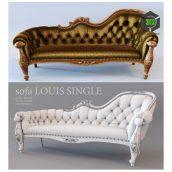 Sofa Louis Single(3ddanlod.ir) 365