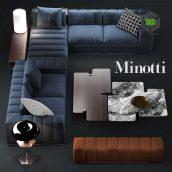 Sofa Minotti Freeman Seating System top view (3ddanlod.ir) 423