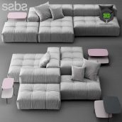 Sofa Saba Italia Pixel(3ddanlod.ir) 416