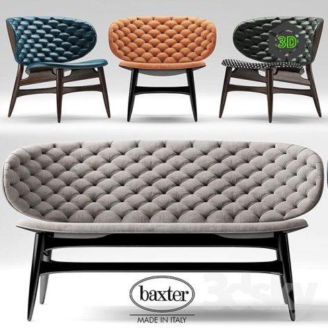 Sofa and Chair Baxter(3ddanlod.ir) 042