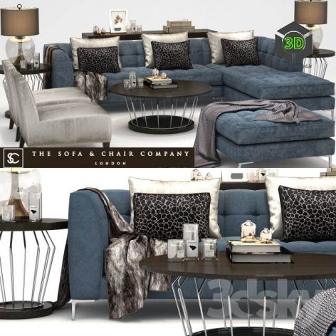 The Sofa & Chair Company Duchamp Corner Sofa Plaza Table Concave Brass(3ddanlod.ir) 165