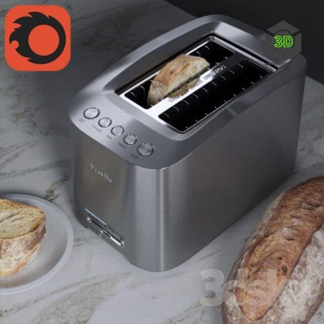 Toaster with Some Bread(3ddanlod.ir) 099