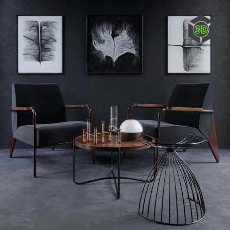 Vitra Chair Fauteuil De Salon(3ddanlod.ir) 560