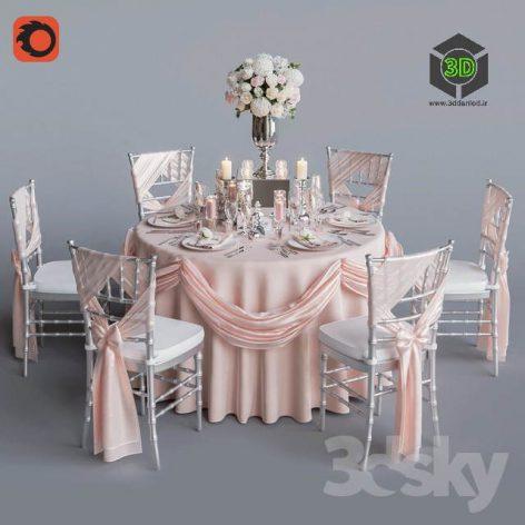 Wedding Table for 6 Persons 2 Corona(3ddanlod.ir) 173