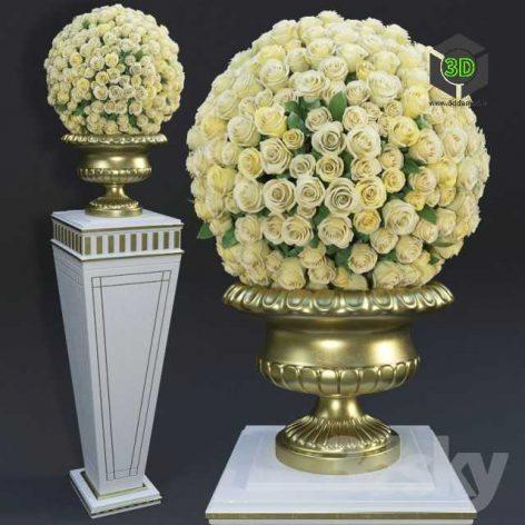 Yellow Roses(3ddanlod.ir) 182