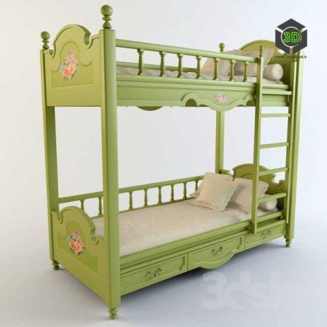 classic child bed 009 (3ddanlod.ir)