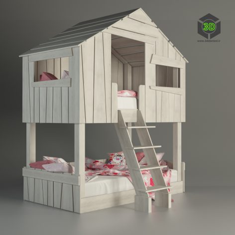 modern bed child022 (3ddanlod.ir)