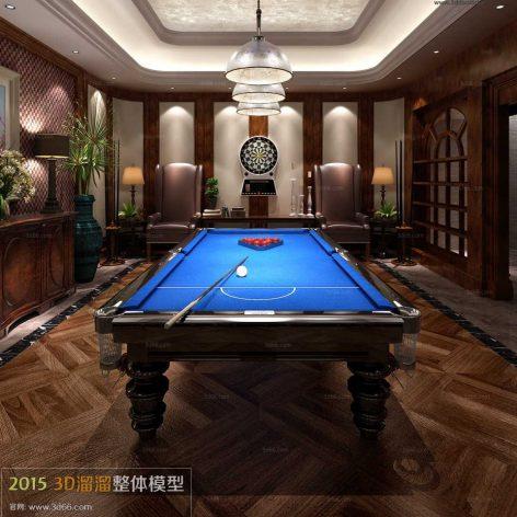 biliard room interior scene 033 (3ddanlod.ir)