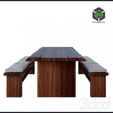 bench wooden (3ddanlod.ir)